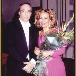 With Ana Maria Gonzalez, 1991.