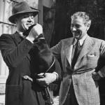With his friend, the French actor Charles Boyer